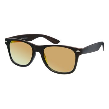 Jeepers Peepers Fred Retro Mirrored Sunglasses - Black with pink lens