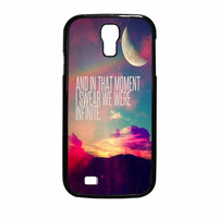 Perks Of A Wall Flower Quote Design Vintage Retro Samsung Galaxy S4 Case