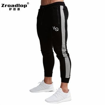 Zroadlop 2017 Top quality Jogger Pants Men Fitness Bodybuilding Gyms Pants Runners Brand Clothing Autumn Sweat Trousers Britches