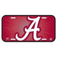 "ALABAMA CRIMSON TIDE 6""x12"" OFFICIAL LOGO LICENSE PLATE CAR BRAND NEW WINCRAFT"