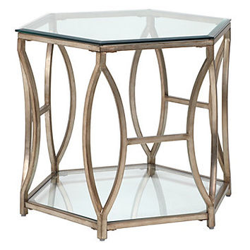 Brooke Hexagonal End Table | sp16 living5 | Living Room | Inspiration | Z Gallerie