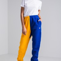 Champion Reverse Weave Color Block Joggers in Team Red Scarlet Black, Gold Surf The Web