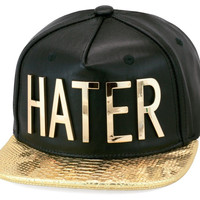 """GOLD """"HATER"""" LIMITED EDITION STRAPBACK *EXCLUSIVE RICHMOB"""