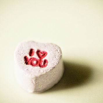 Valentines candy Photography wedding day conversation hearts purple red letters sweet
