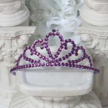Party Hair Accessories - Princess Crown - Princess Gifts - Purple Hair Accessories - Dress Up Girls - Princess Party - Eggplant Wedding
