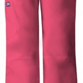 Cherokee Womens Low Rise Drawstring Cargo Pant, Carnation Pink, X-Small