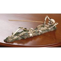 Skeleton Incense Burner Halloween Decor