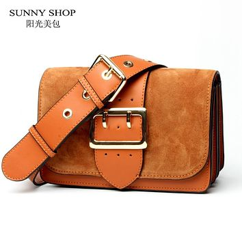 SUNNY SHOP Brand Designer Women Shoulder Bag 2017 New Fashion Genuine Leather Women Bag Cow Leather Handbag christmas
