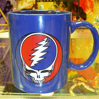 Grateful Dead Steal Your Face Blue Mug SYF Jerry Garcia Bob Weir