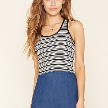 Striped Racerback Crop Top