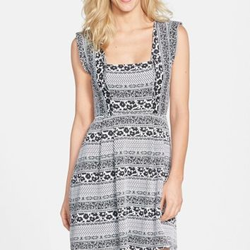 Women's Plenty by Tracy Reese 'Nina' Geo Pattern Knit Jacquard Fit & Flare Dress,