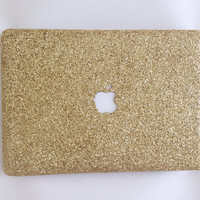 Champagne Gold Glitter MacBook Case