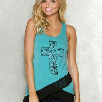 Cross Tulip Graphic Tank
