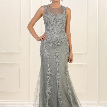 Long Evening Dress Plus Size Prom Gown