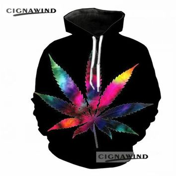 New Design fashion hoodies men/women psychedelic Weed 3D printed hoodie sweatshirt Long sleeve Harajuku style streetwear tops