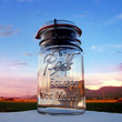 Mason Jar Solar Light - Upcycled Vintage Ball Eclipse Wide Mouth Bail Glass Top Quart - High Quality