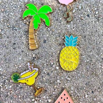 What's Up Beaches Enamel Pins