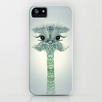 *** CUTE OSTRICH GIRL ***  iPhone & iPod Case by Monika Strigel for iphone 5 + 4 + 4S +3GS + 3G + ipod touch + Samsung Galaxy !!!