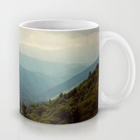 THE LIGHT THROUGH THE CLOUDS Mug by Erin Johnson