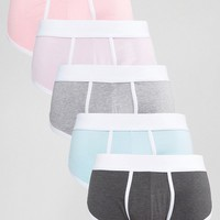 ASOS U Bound Hipsters In Pastels 5 Pack save 20% at asos.com