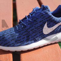 Nike Roshe Run One Blue Yeezy Low 350 Boost Custom Men Adidas October