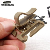 10Pcs/lot Outdoor Rotatable Molle Hydration Bladder Drinking Tube Straw Hose Clip Water Pipe Clamps Fixed Rotation Snaps Buckle