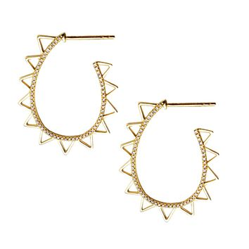 Diamond Sol Hoop Earrings