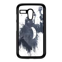 Wolf Song 3 Black Hard Plastic Case for Moto G by Balazs Solti