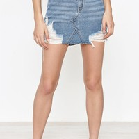 PacSun Vintage 5-Pocket Destroyed Mini Skirt at PacSun.com