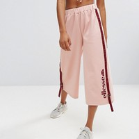 Ellesse Cropped Wide Leg Joggers With Side Pull Ties at asos.com