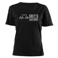 Grey's Anatomy Women's V-Neck Dark T-Shirt> Grey's Anatomy TV Store