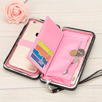 10 colors Purse wallet female famous brand card holders cellphone pocket gifts for women money bag clutch 888