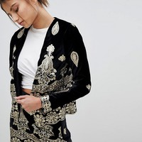 Missguided Embellished Festival Jacket at asos.com