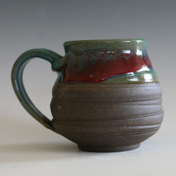 Coffee Mug, handmade ceramic cup, handthrown mug, stoneware mug, pottery mug, unique coffee mug, ceramics and pottery