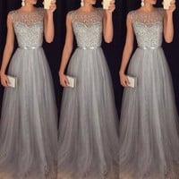 2018 New Brand Women Formal Wedding Bridesmaid Long Night Party Ball Prom Gown Elegant Formal Long Dress