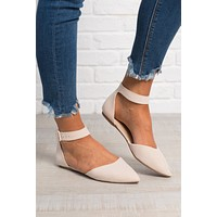 Faith Velvet Flats (Nude)