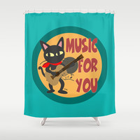 Music for you Shower Curtain by BATKEI
