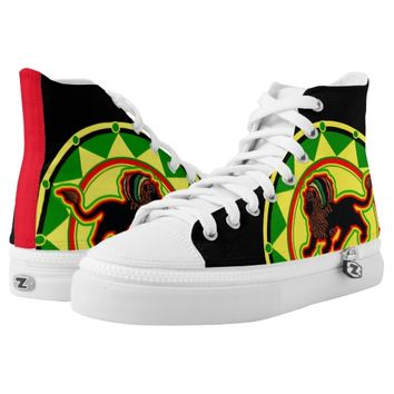 Rasta Lion Printed Shoes