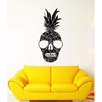 Vinyl Wall Decal Sunny Fruit Skull Sunglasses Rock'n'roll Stickers (2804ig)