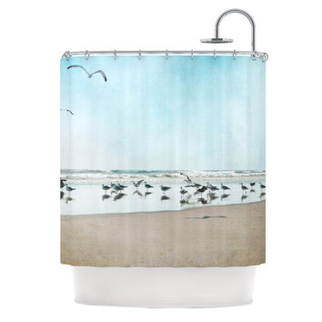 "Sylvia Cook ""Sea Blue"" Coastal Shower Curtain"
