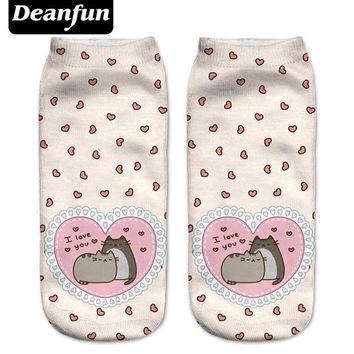VONEML3 Deanfun New 3D Printed Pusheen Love Women Socks Cute Low Cut Ankle Sock Multiple Cartons Fashion Style NW08