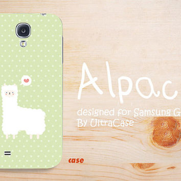Samsung galaxy note 3 case, cute alpaca galaxy S4 case, apple green Samsung Galaxy note 2 case, cute samsung galaxy s3 case