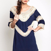 Wide Open Spaces Dress/Tunic-Navy