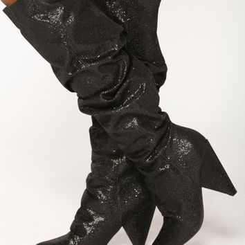 Hollywood Heel Boot - Black