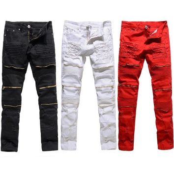 Brand Jeans Men Casual Straight Denim Men's Fashion Jeans Slim denim overall Brands jean homme Biker jeans