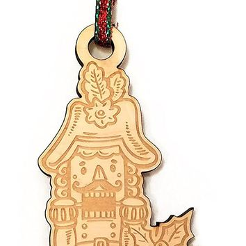 Nutcracker Laser Engraved Wooden Christmas Tree Ornament Gift Seasonal Decoration