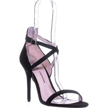 Chinese Laundry Lavelle Ankle Strap Sandals, Rich Velvet Black, 10 US / 41 EU