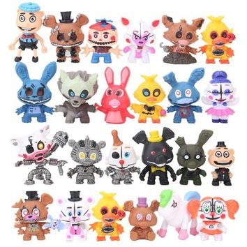 24pcs/set  At  Action Figure Toy High Quality Toys 5-7CM Foxy Freddy  PVC Model Dolls Kids Toys
