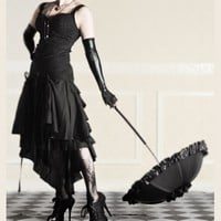 PRESUMPTION OF MECHANT GOTHIC DRESS NOIR