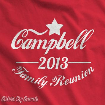 Family Reunion T-Shirt - Vintage Inspired Custom TShirts Families Personalized Shirts Reunions